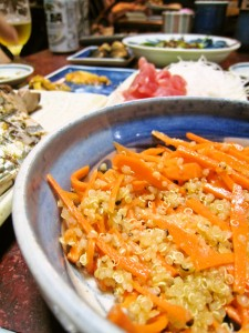 キヌアと人参のサラダ