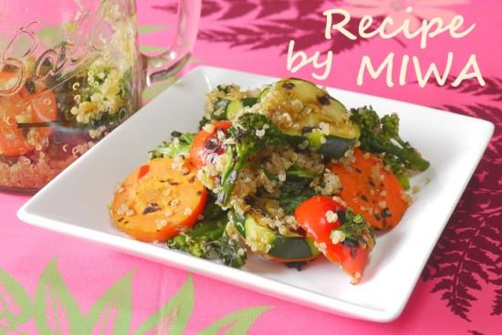 キヌアとグリル野菜のジャーサラダ