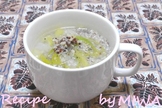 材料3つ!キヌアの簡単スープ